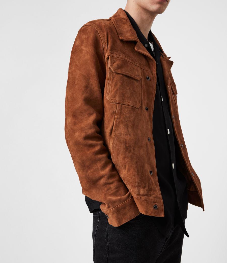 Men's Adaire Suede Jacket (tan) - Image 4