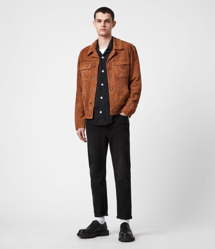 Men's Adaire Suede Jacket (tan) - Image 6