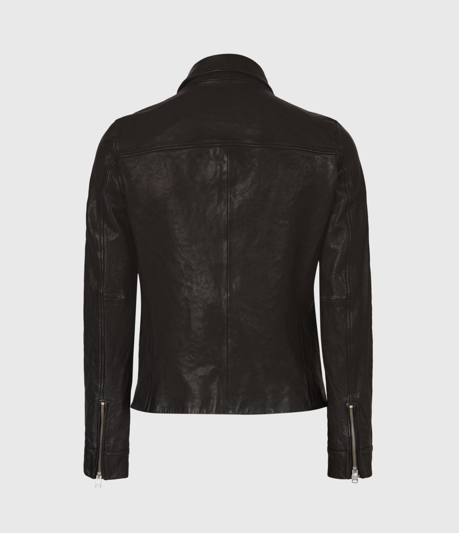 Mens Calix Leather Jacket (black) - Image 3
