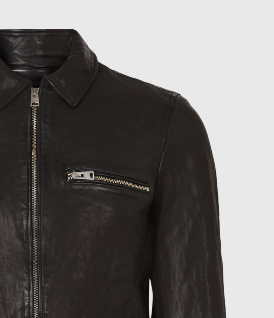 Mens Calix Leather Jacket (black) - Image 5