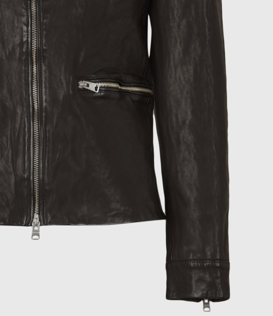 Mens Calix Leather Jacket (black) - Image 6