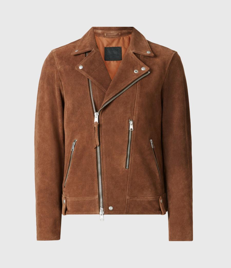 Mens Neko Suede Biker Jacket (tan_brown) - Image 2