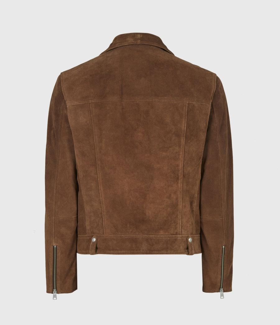 Mens Neko Suede Biker Jacket (tan_brown) - Image 3