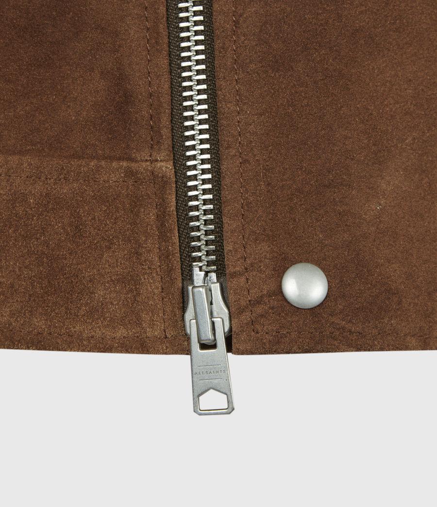 Mens Neko Suede Biker Jacket (tan_brown) - Image 6