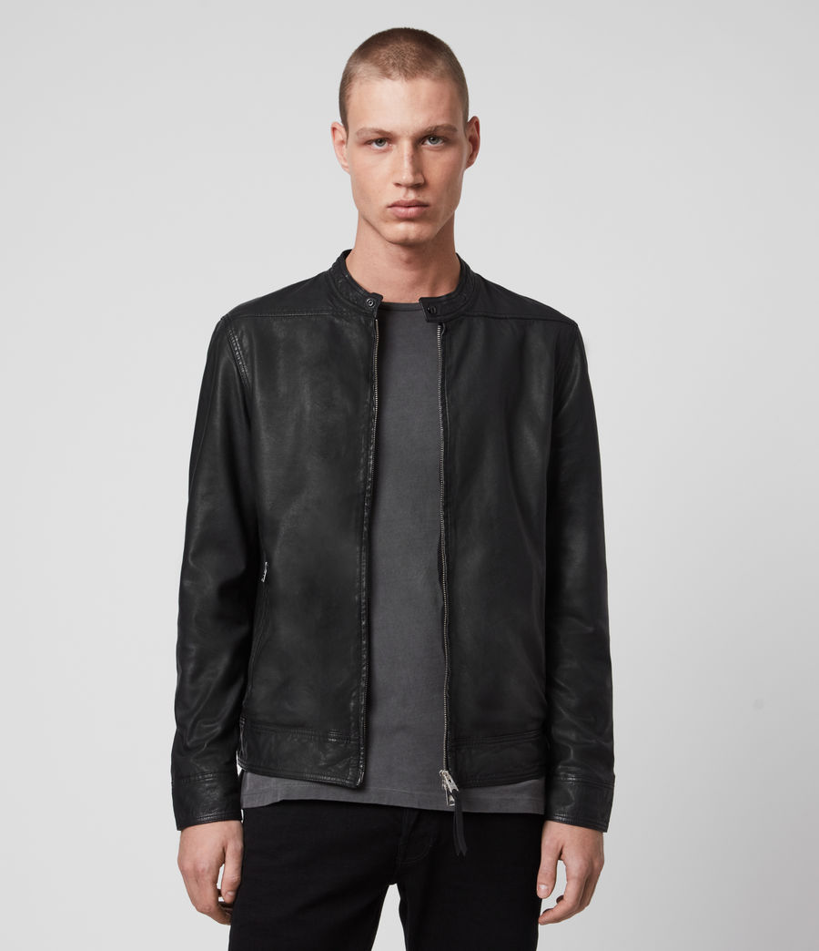 Herren Colt Leather Jacket (black) - Image 1