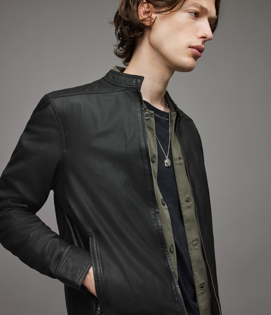 Men's Colt Leather Jacket (black) - Image 2