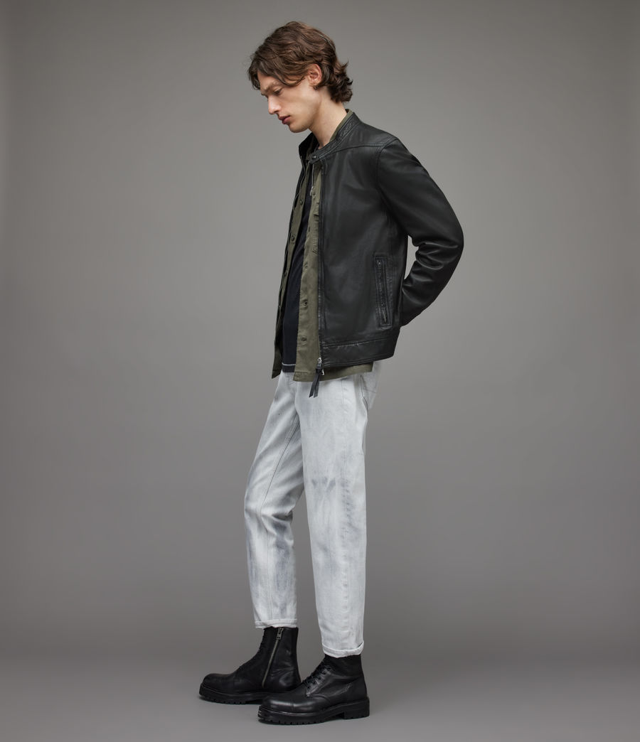 Men's Colt Leather Jacket (black) - Image 4
