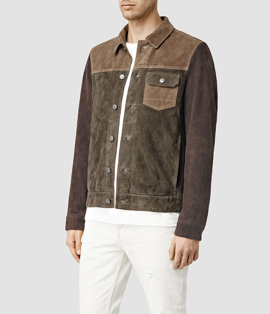 Men's Dakota Suede Jacket (khaki_green) - Image 2