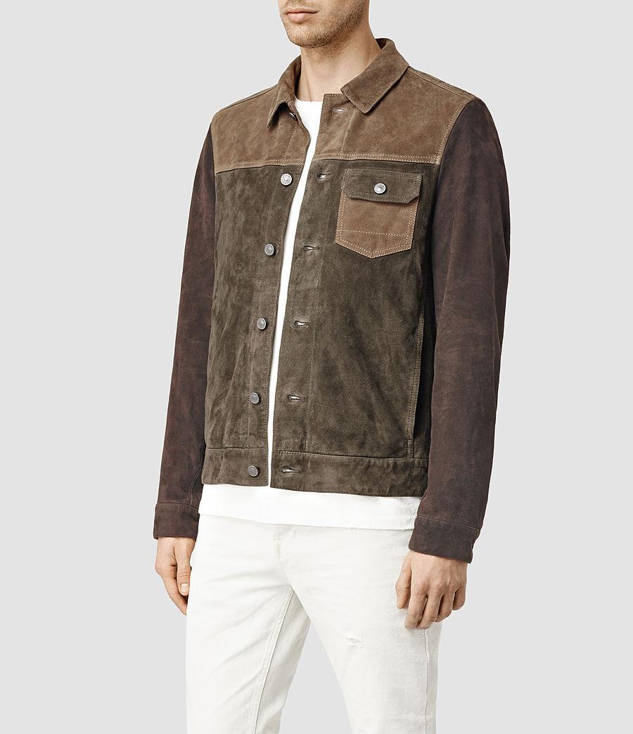 Herren Dakota Suede Jacket (khaki_green) - Image 2