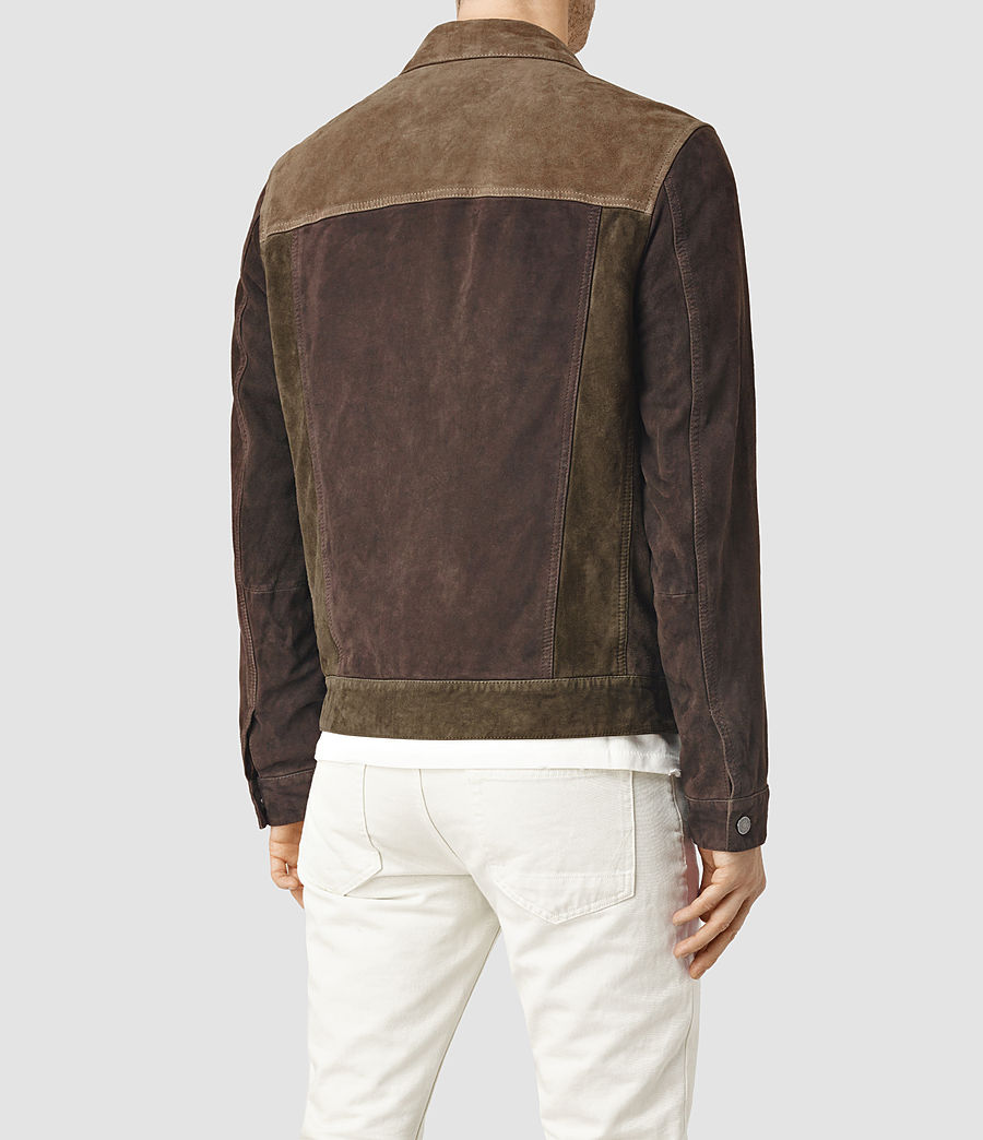 Men's Dakota Suede Jacket (khaki_green) - Image 3