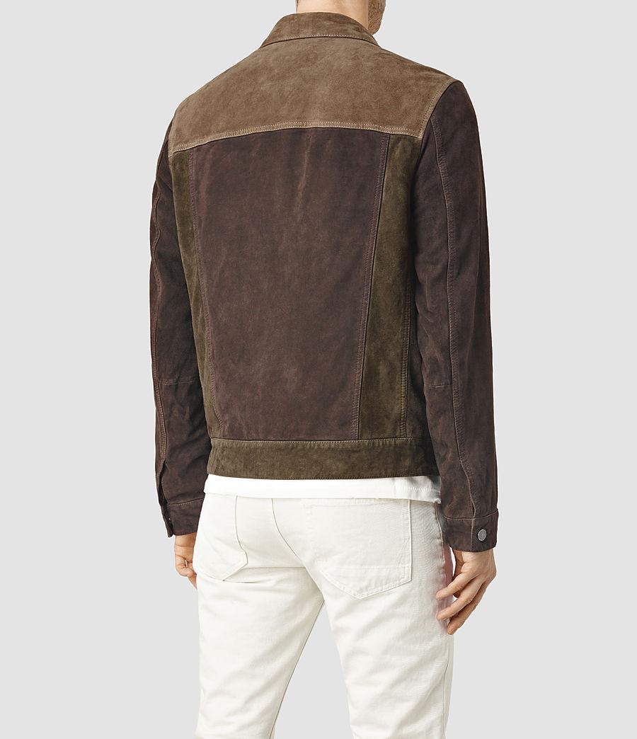 Herren Dakota Suede Jacket (khaki_green) - Image 3