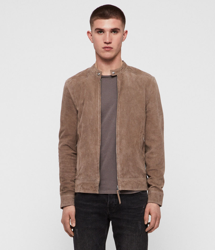 Men's Colt Suede Jacket (gravel_grey) - Image 1