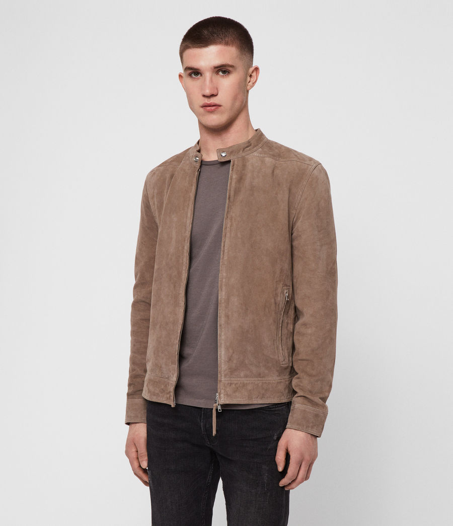 Men's Colt Suede Jacket (gravel_grey) - Image 2