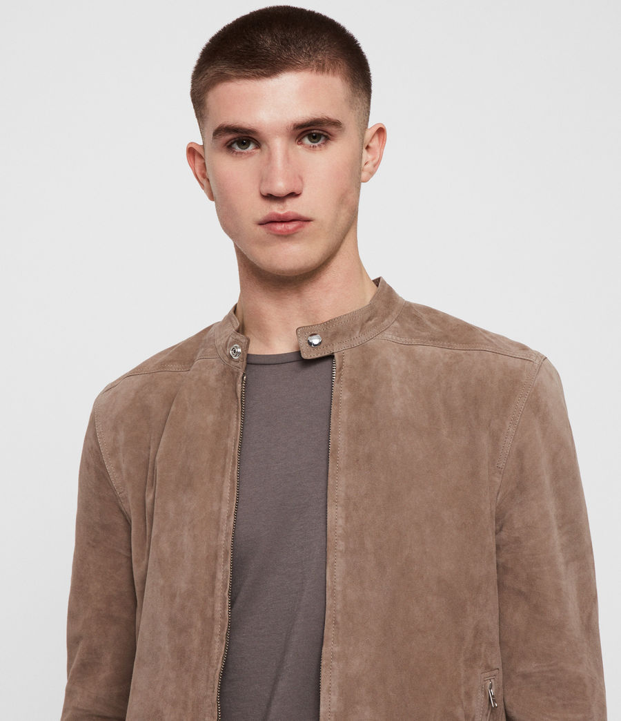 Men's Colt Suede Jacket (gravel_grey) - Image 3