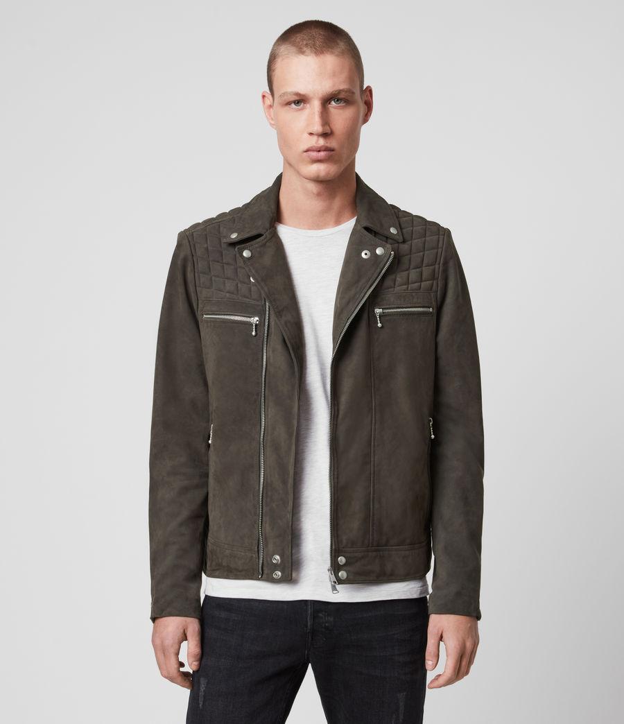 Men's Bandon Leather Biker Jacket (atlantic_grey) - Image 1