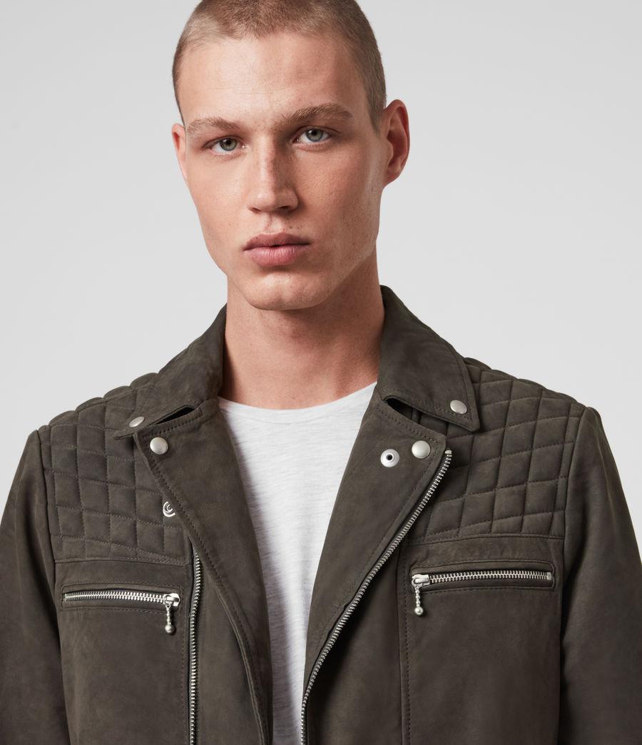 Men's Bandon Leather Biker Jacket (atlantic_grey) - Image 2