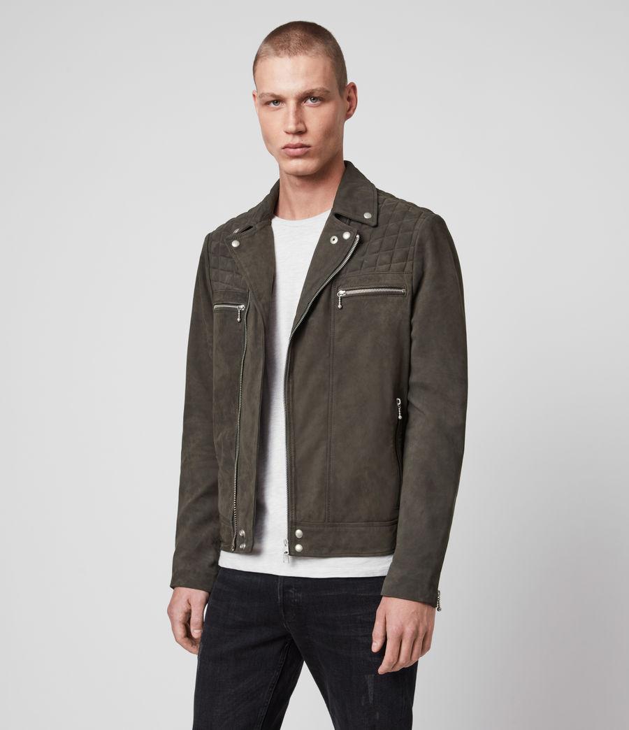 Men's Bandon Leather Biker Jacket (atlantic_grey) - Image 3