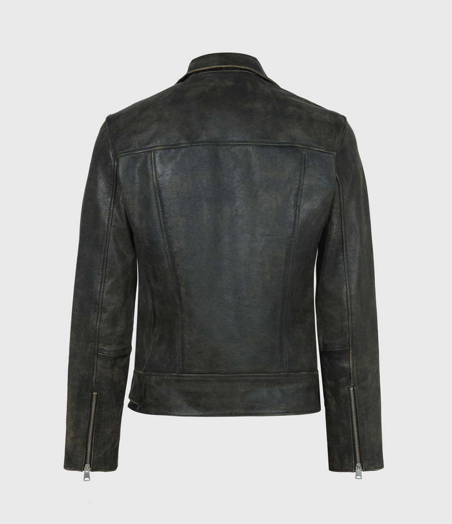 Men's Hank Leather Biker Jacket (brown) - Image 3