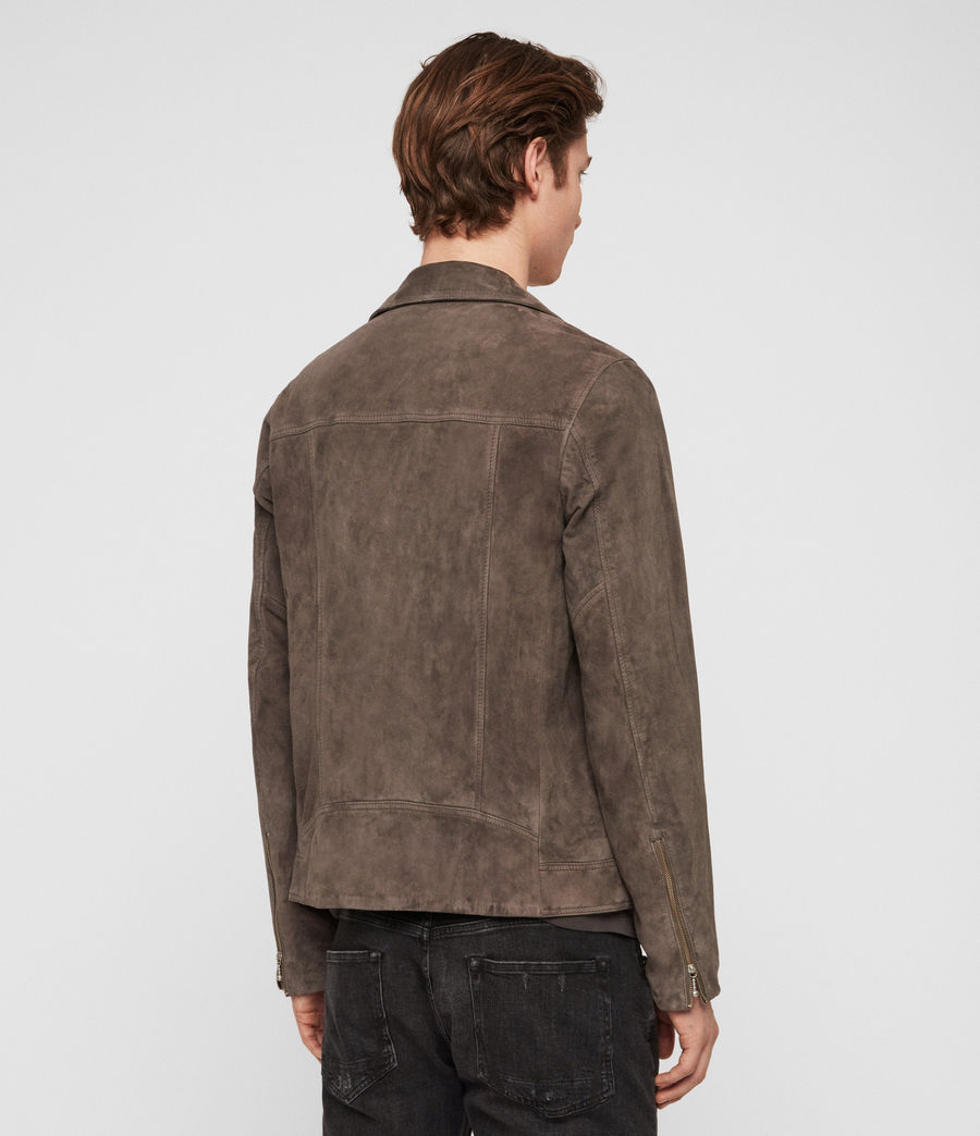 Mens Holt Suede Biker Jacket (graphite_grey) - Image 7