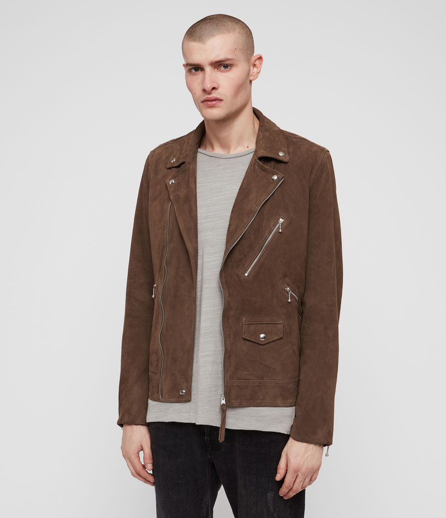 Men's Holt Suede Biker Jacket (mink_brown) - Image 1