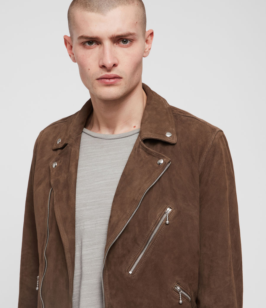 Men's Holt Suede Biker Jacket (mink_brown) - Image 2