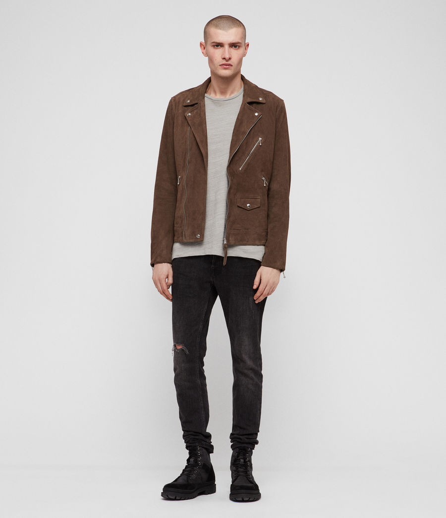 Men's Holt Suede Biker Jacket (mink_brown) - Image 3