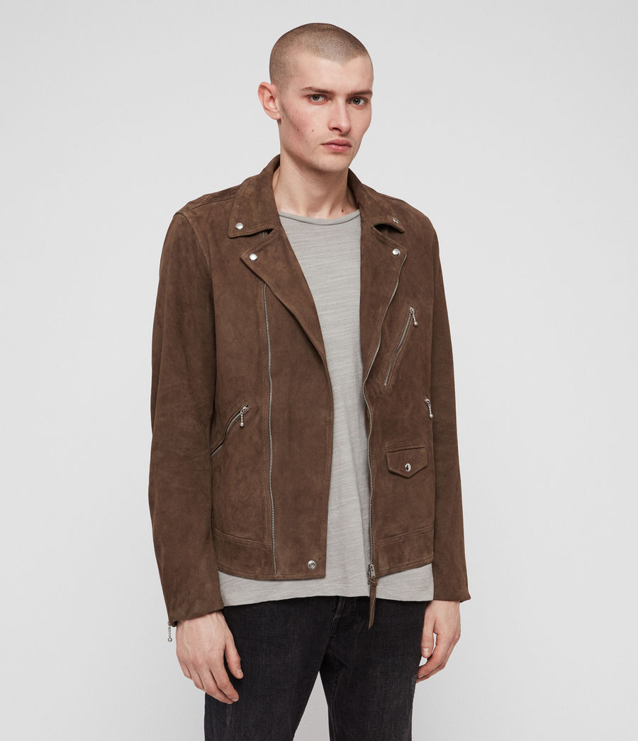 Men's Holt Suede Biker Jacket (mink_brown) - Image 4