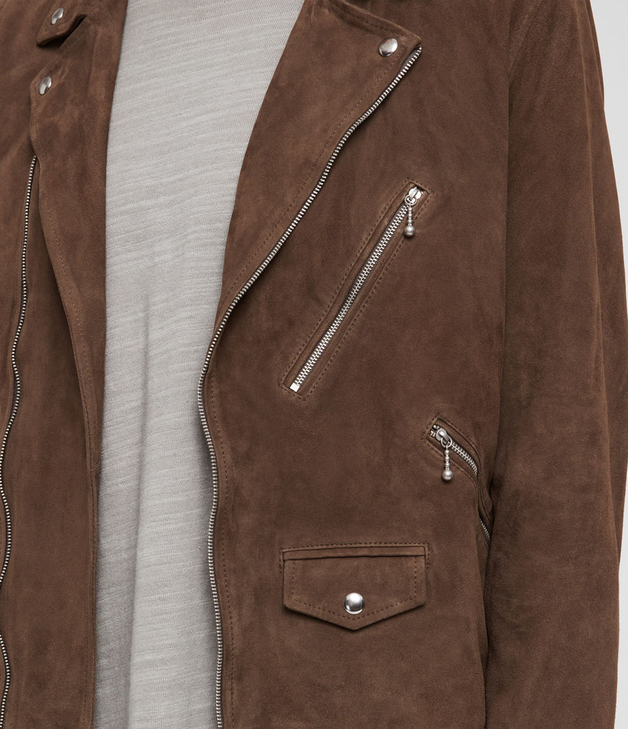 Men's Holt Suede Biker Jacket (mink_brown) - Image 5
