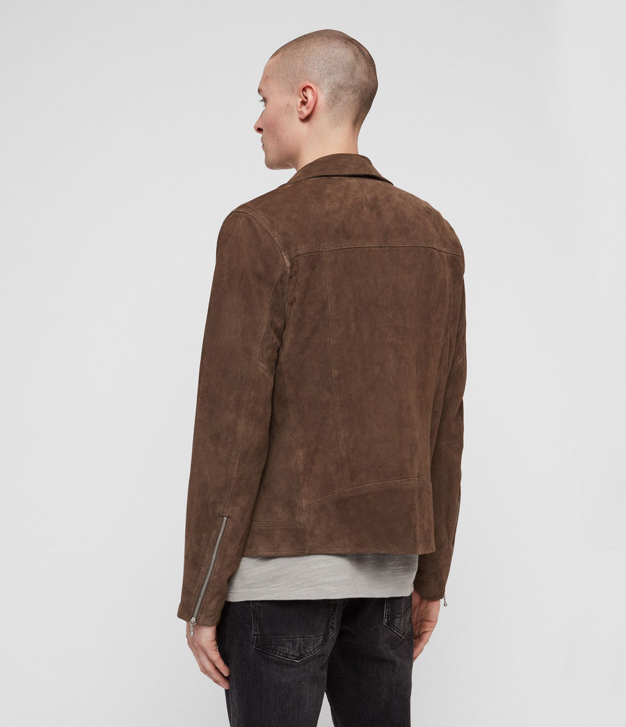 Men's Holt Suede Biker Jacket (mink_brown) - Image 6