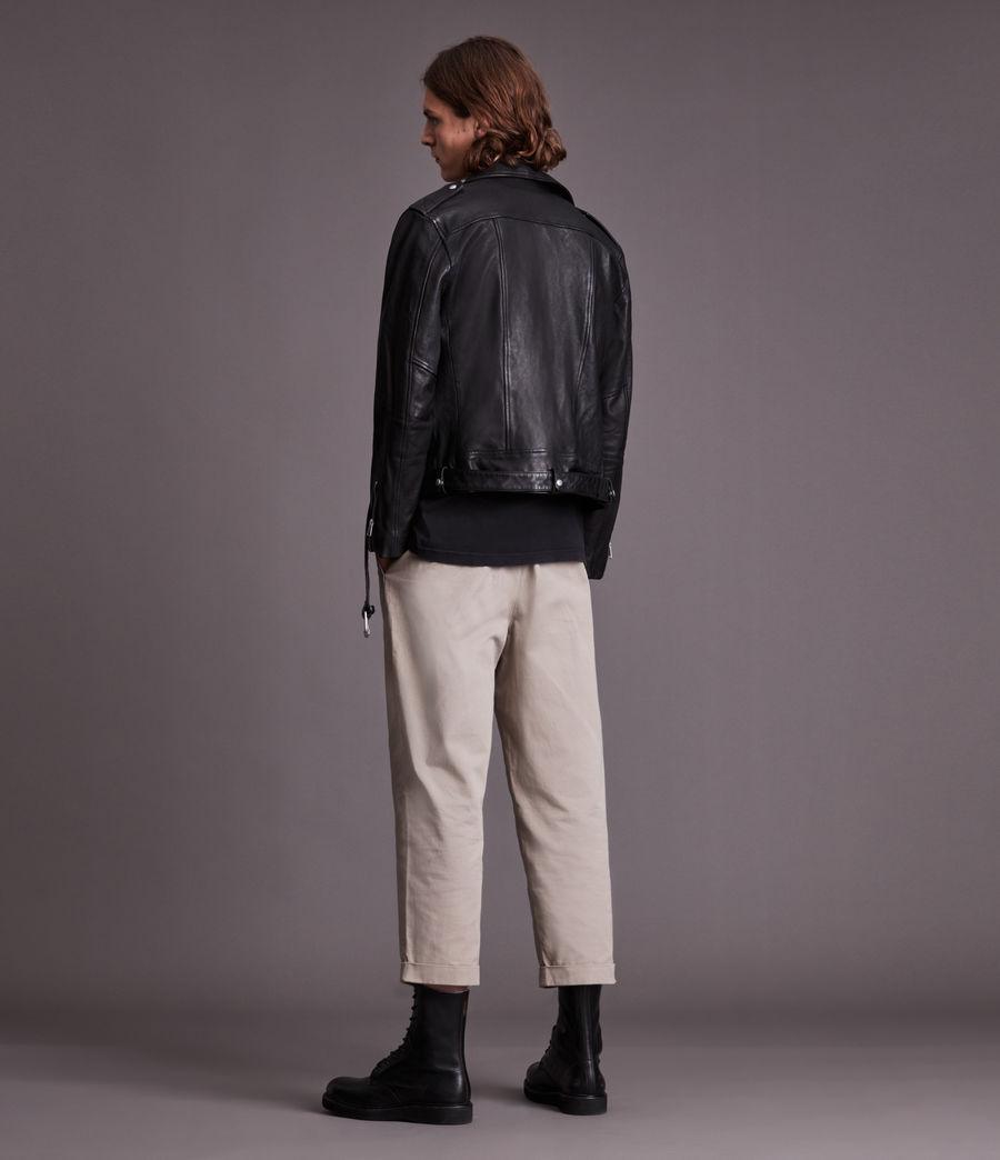 Men's Dren Leather Biker Jacket (black) - Image 6
