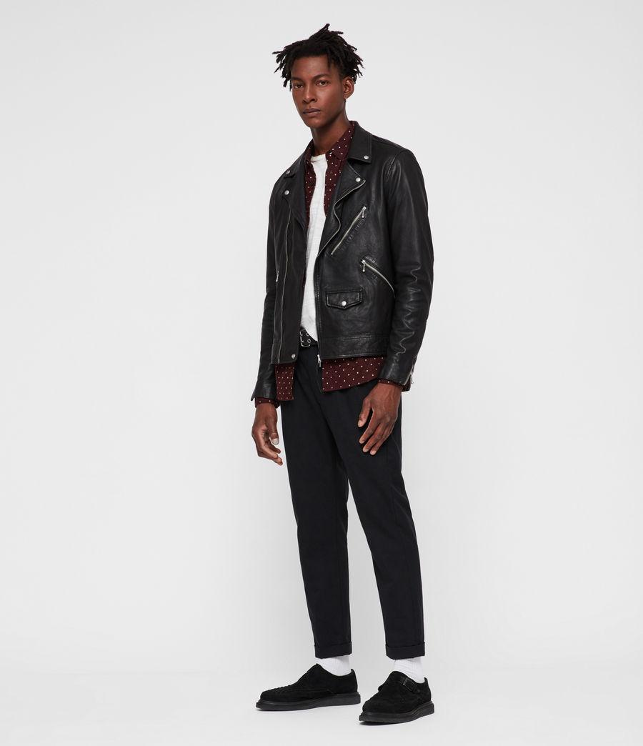 Uomo Holt Leather Biker Jacket (black) - Image 2