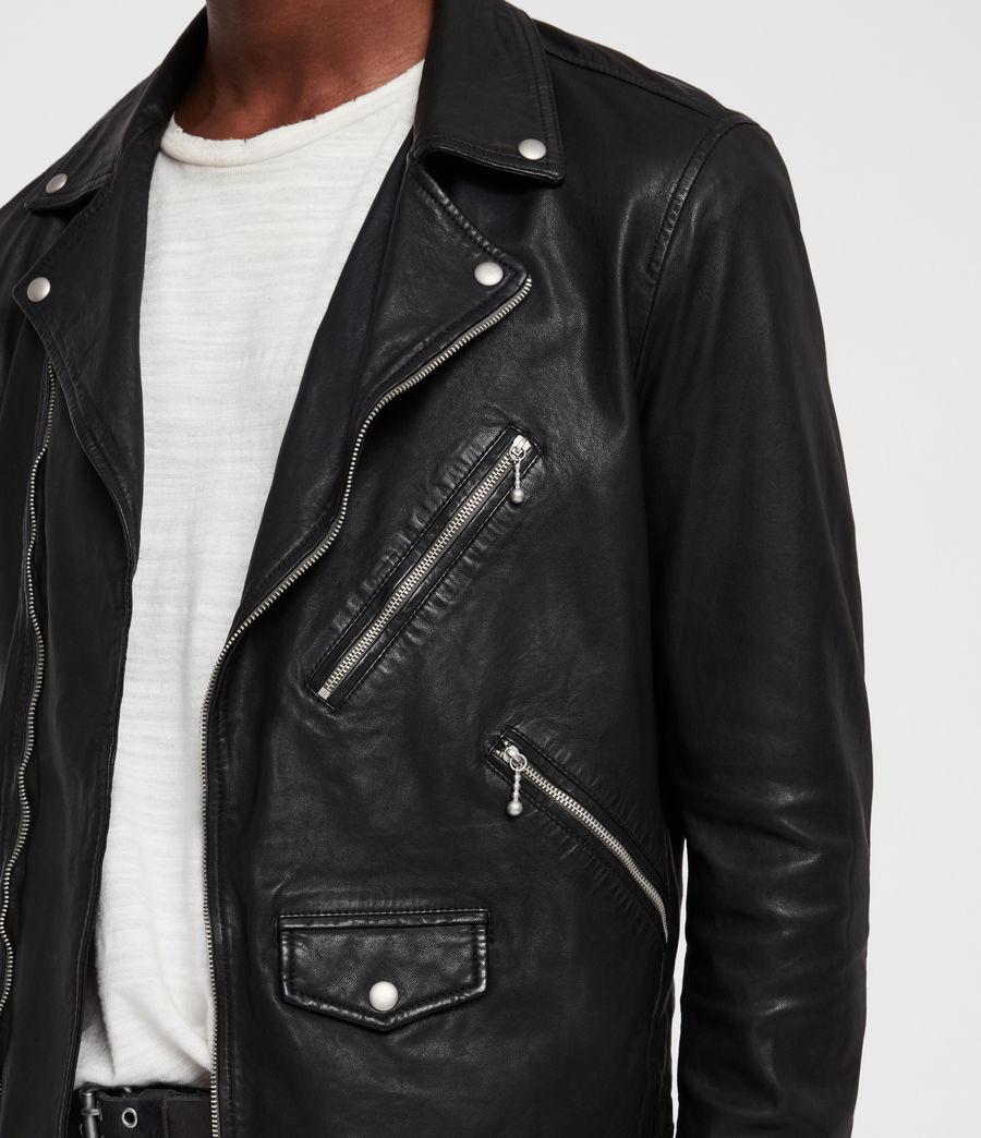 Uomo Holt Leather Biker Jacket (black) - Image 3