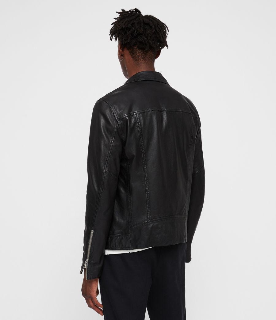 Uomo Holt Leather Biker Jacket (black) - Image 5