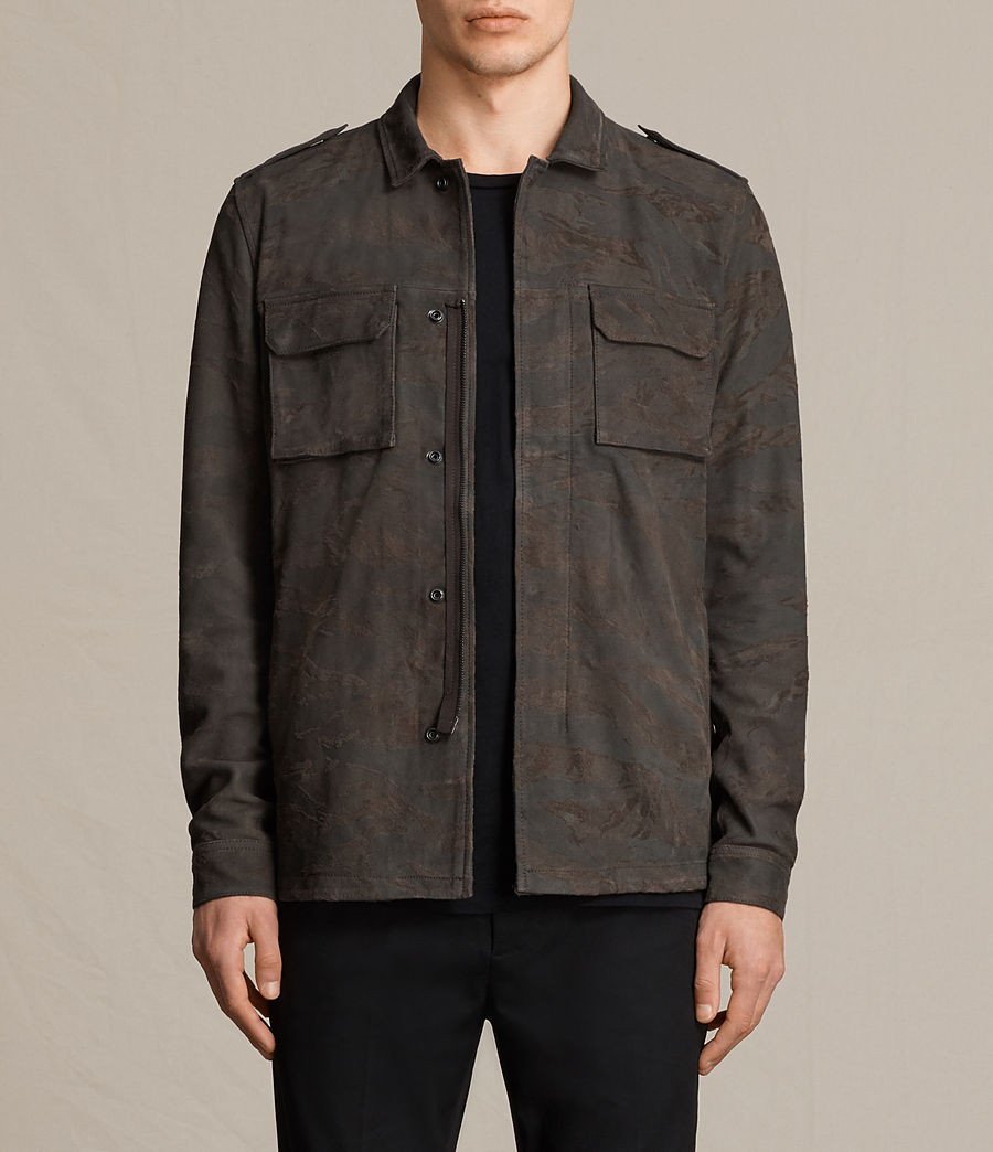 Mens Tackton Suede Shirt (graphite_grey) - Image 1