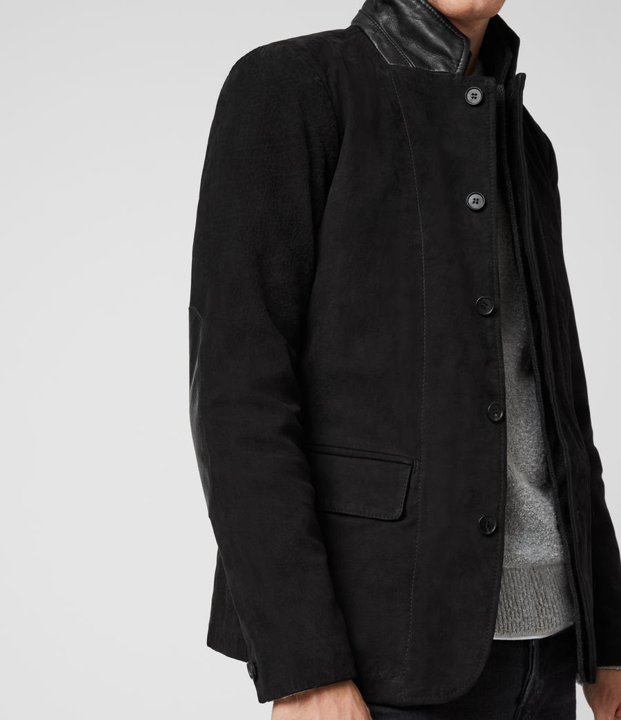 Hommes Blazer en Cuir Survey (washed_black) - Image 6