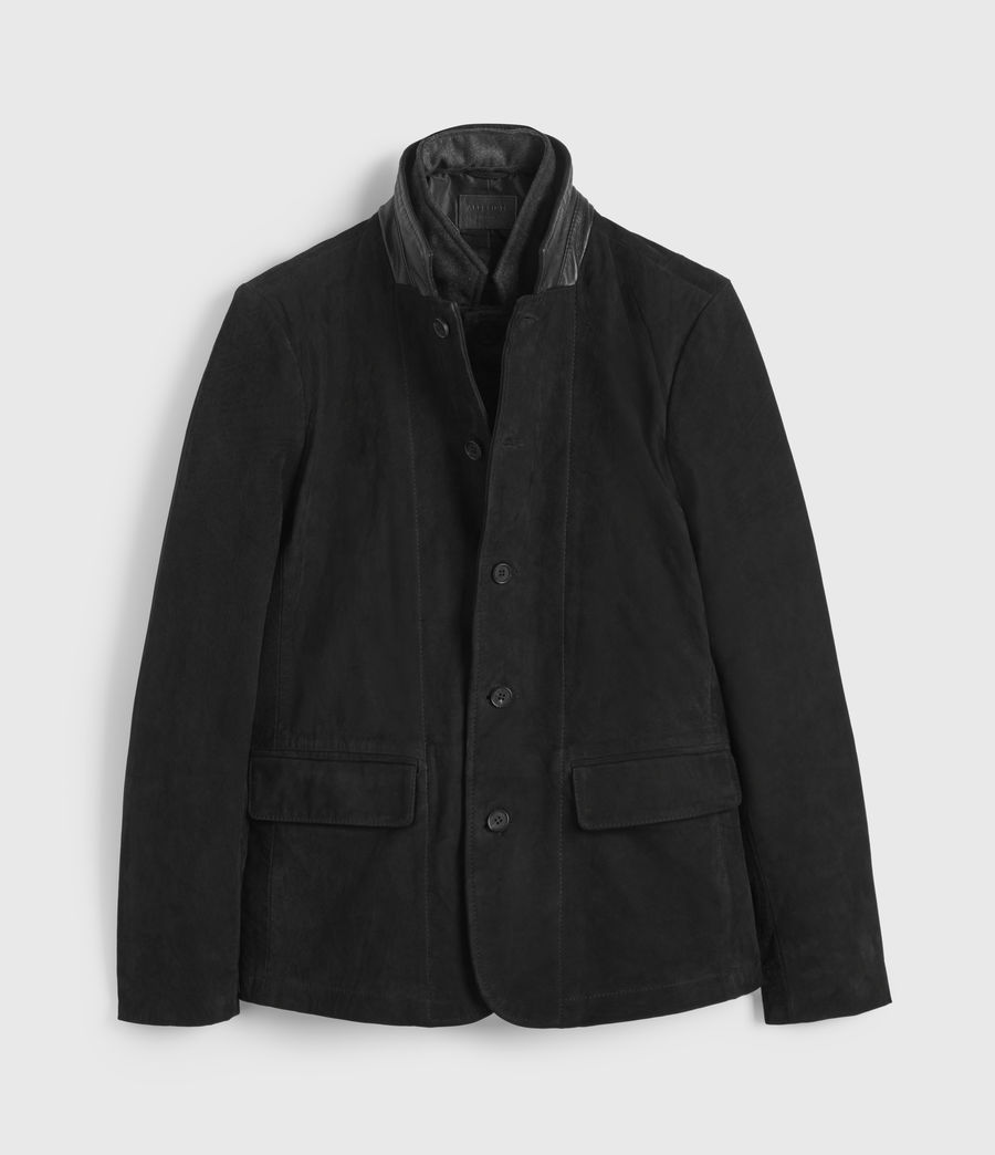 Hommes Blazer en Cuir Survey (washed_black) - Image 8