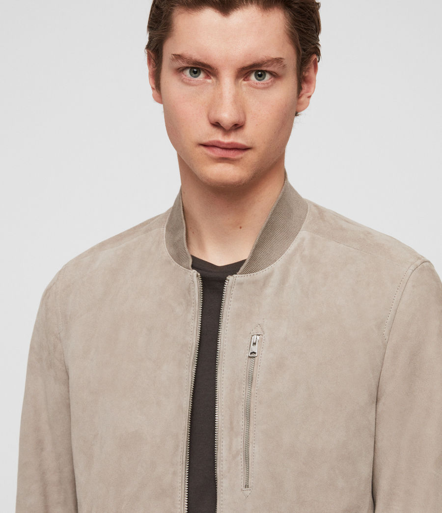 Men's Kemble Suede Bomber Jacket (cement_grey) - Image 2