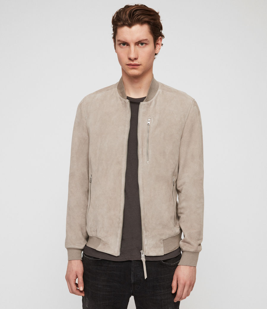 Men's Kemble Suede Bomber Jacket (cement_grey) - Image 3