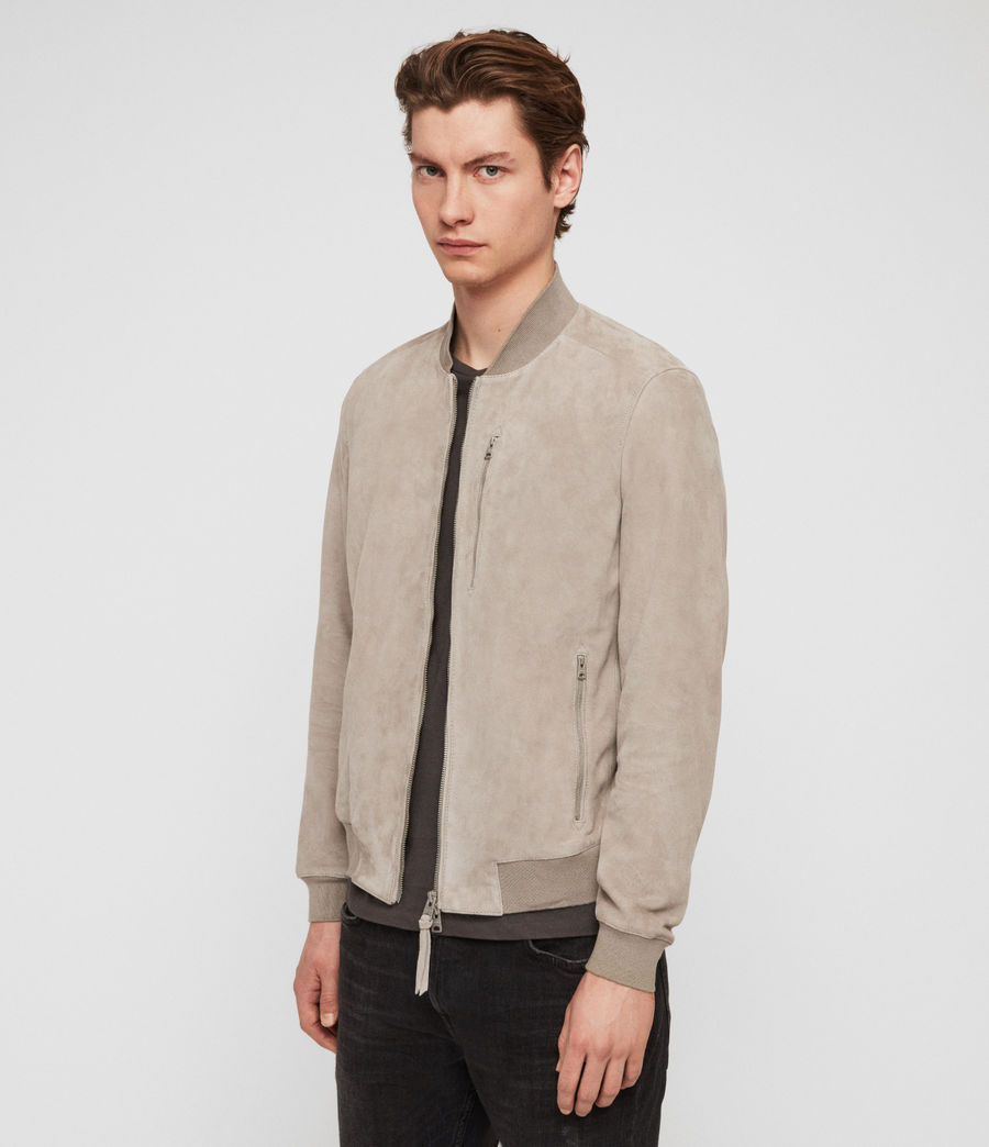 Men's Kemble Suede Bomber Jacket (cement_grey) - Image 4