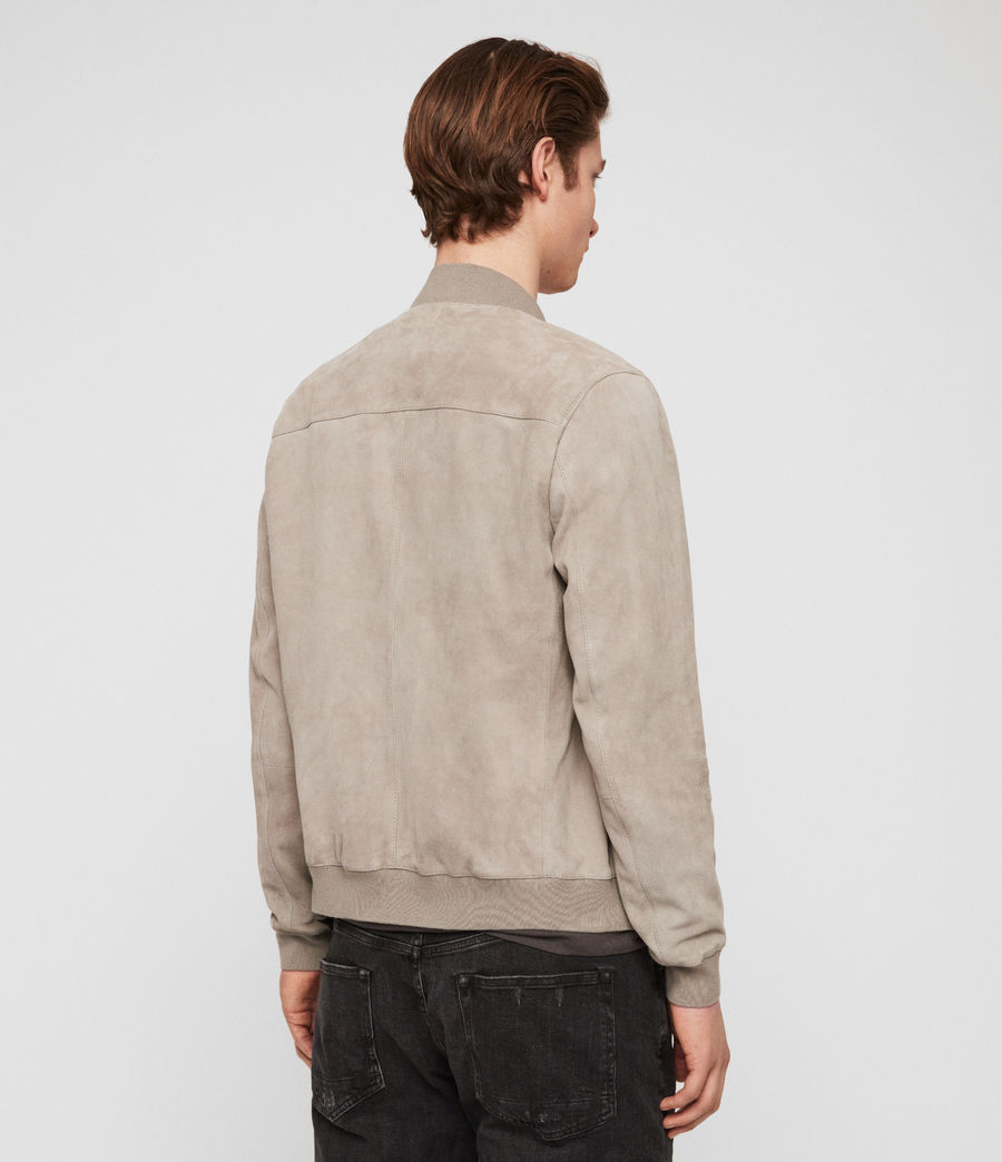 Men's Kemble Suede Bomber Jacket (cement_grey) - Image 5