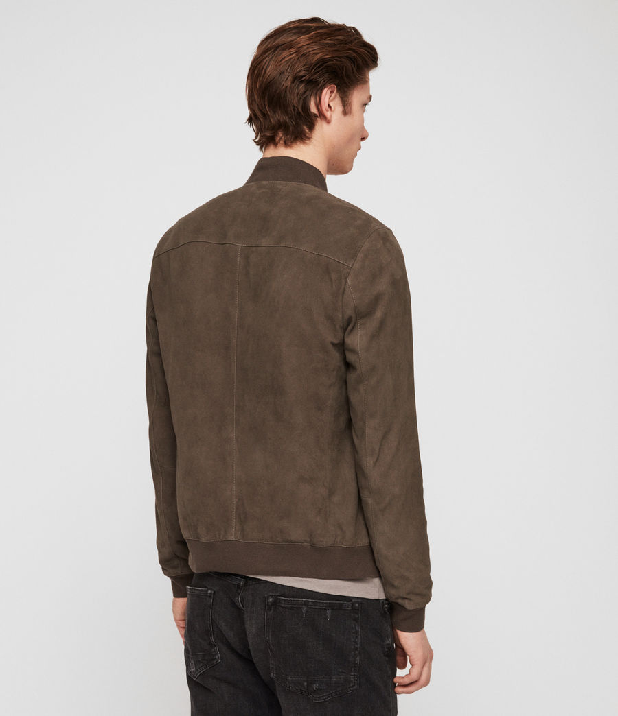 Mens Kemble Suede Bomber Jacket (gravel_grey) - Image 5