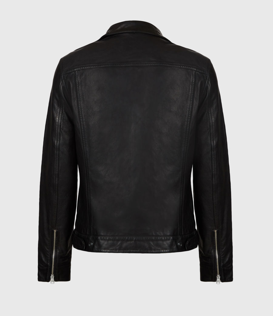 Mens Brandt Leather Jacket (black) - Image 3