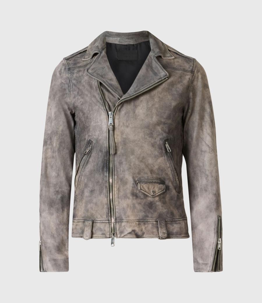 Mens Antro Leather Biker Jacket (indigo) - Image 2