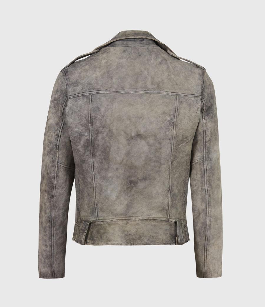 Mens Antro Leather Biker Jacket (indigo) - Image 3
