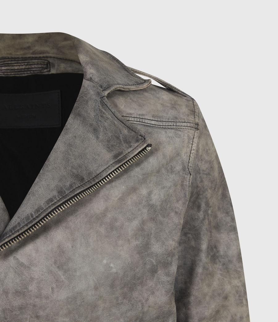 Mens Antro Leather Biker Jacket (indigo) - Image 5