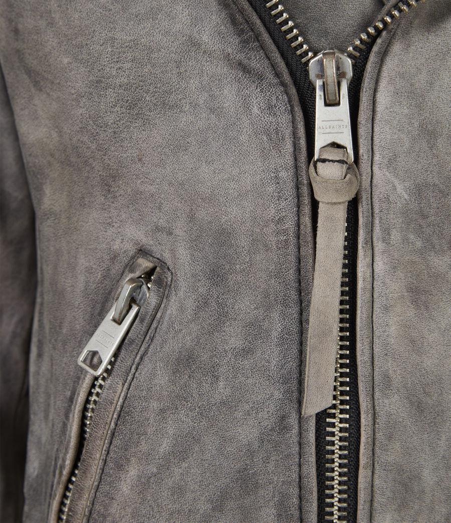 Mens Antro Leather Biker Jacket (indigo) - Image 6