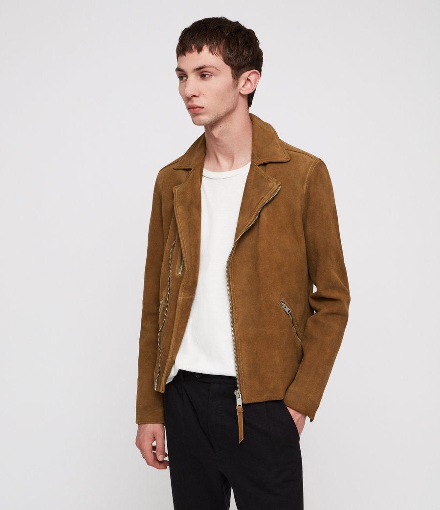 Men's Judd Leather Biker Jacket (tan_brown) - Image 1