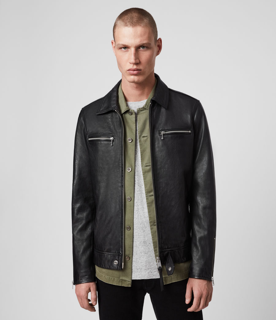 Men's Maya Leather Jacket (black) - Image 1