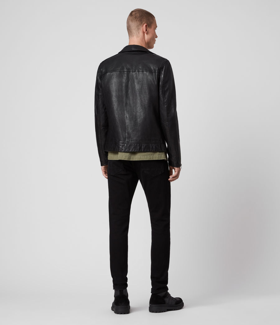 Mens Maya Leather Jacket (black) - Image 6
