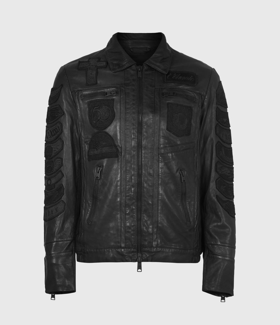 Mens Harley Leather Jacket (black) - Image 2